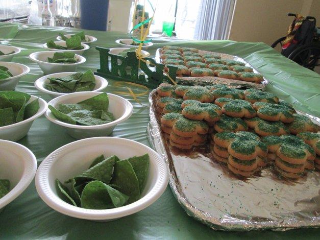 St Patricks Day Table
